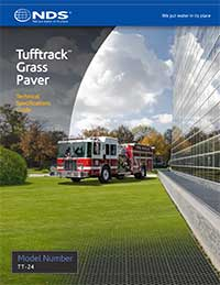 Tufftrack Fire Lane Grass Paver Installation