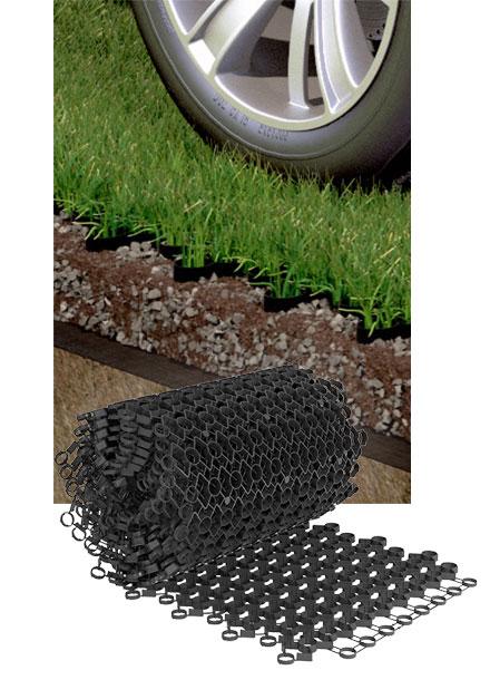 RV parking grass grid