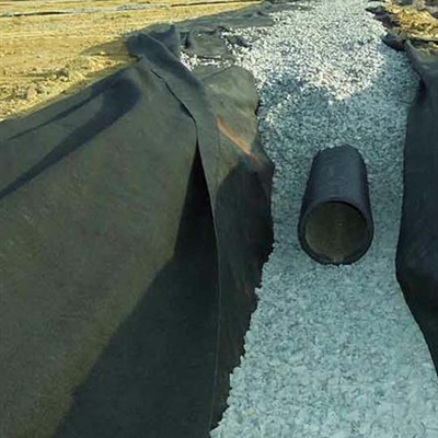 Drainage Fabric in a Gravel Drain