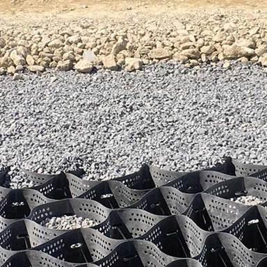 RV parking grid for gravel