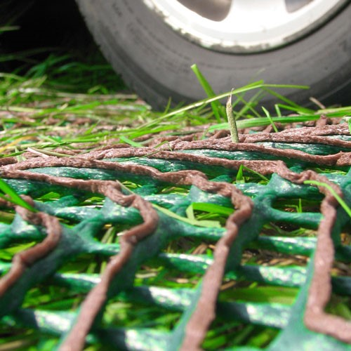 RV parking pad mesh for grass