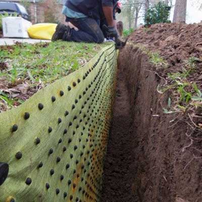 BioBarrier is a root barrier material which controls root growth.